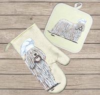 Komondor Oven Mitt and Pot Holder