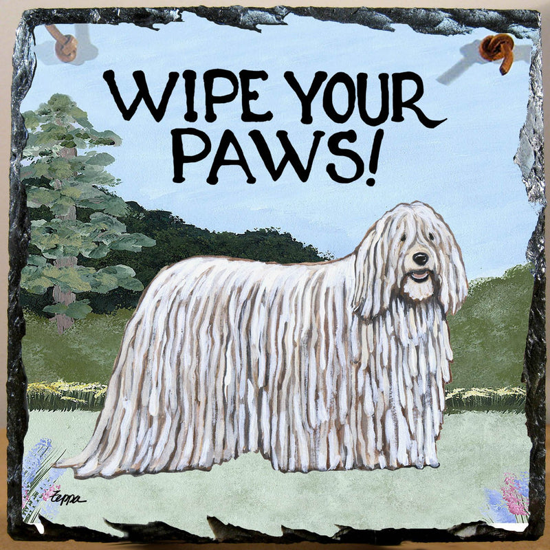 Komondor Slate Sign
