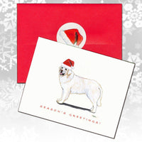 Kuvasz Christmas Note Cards