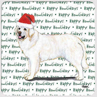 "Kuvasz ""Happy Howlidays"" Coaster"