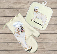 Kuvasz Oven Mitt and Pot Holder