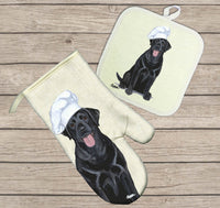 Labrador Retriever Oven Mitt and Pot Holder
