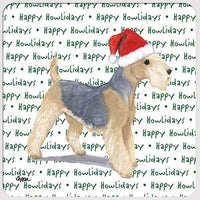 "Lakeland Terrier ""Happy Howlidays"" Coaster"