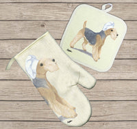 Lakeland Terrier Oven Mitt and Pot Holder