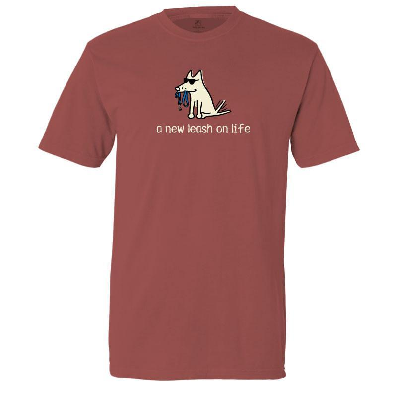New Leash On Life T-Shirt - Classic Garment Dyed - Teddy the Dog T-Shirts and Gifts
