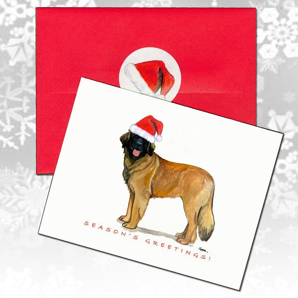 Leonberger Christmas Note Cards