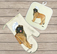Leonberger Oven Mitt and Pot Holder