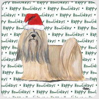 "Lhasa Apso ""Happy Howlidays"" Coaster"