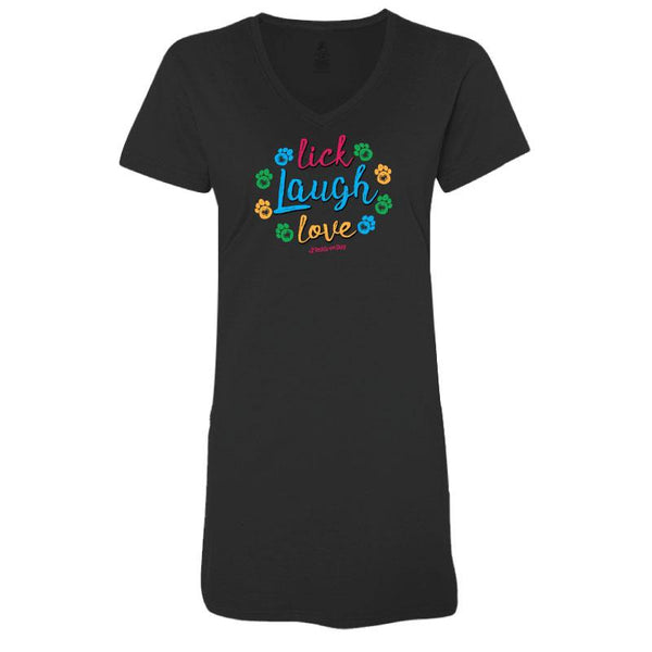 Lick, Laugh, Love  - Ladies Night T-Shirt