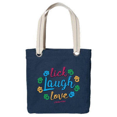 Lick, Laugh, Love - Canvas Tote