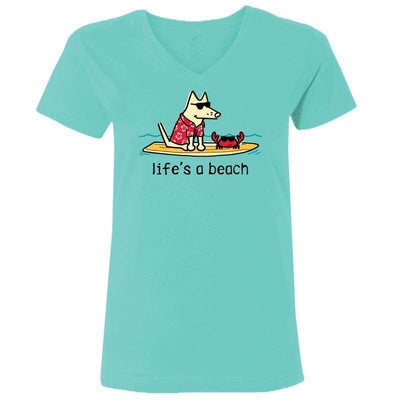 Life's A Beach - Ladies T-Shirt V-Neck