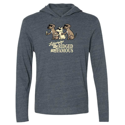 Lifestyles Of The Ridged And Famous - Long-Sleeve Hoodie T-Shirt