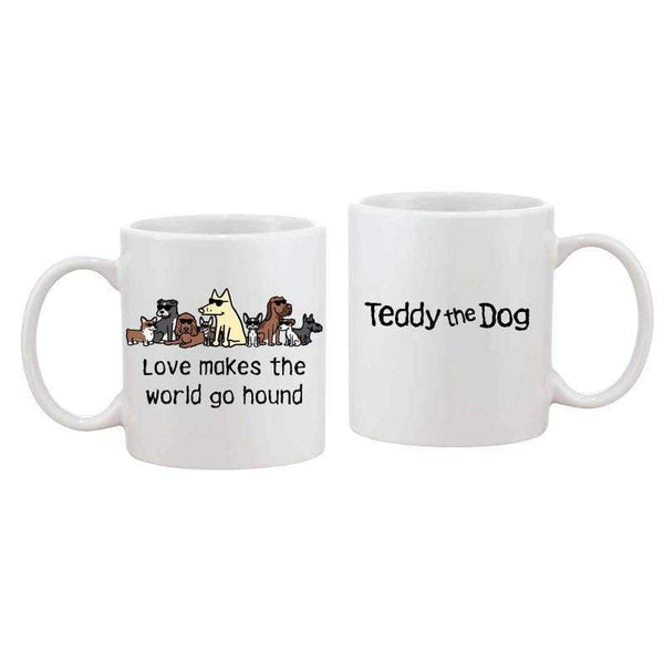 Love Makes The World Go Hound - Coffee Mug