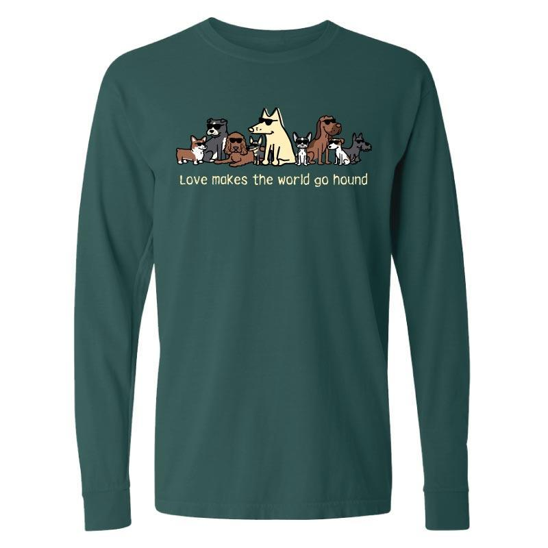 Love Makes The World Go Hound  - Classic Long-Sleeve Shirt