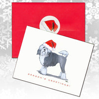 Lowchen Christmas Note Cards