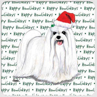 "Maltese ""Happy Howlidays"" Coaster"