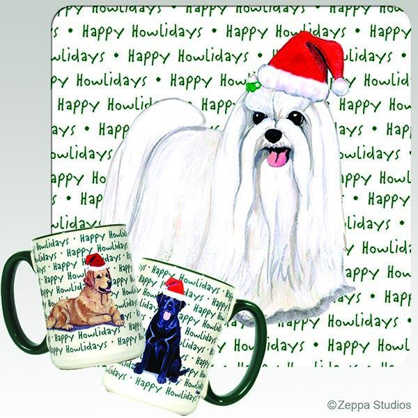 Maltese Holiday Mug