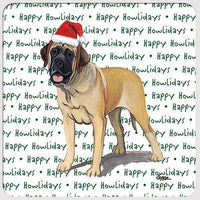 "Mastiff ""Happy Howlidays"" Coaster"