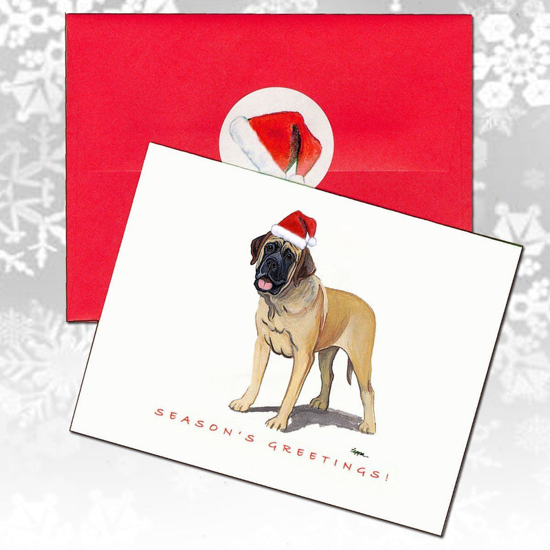 Mastiff Christmas Note Cards