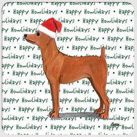 "Miniature Pinscher Red ""Happy Howlidays"" Coaster"
