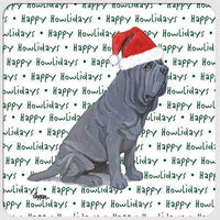 "Neapolitan Mastiff ""Happy Howlidays"" Coaster"