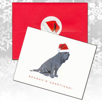 Neapolitan Mastiff Christmas Note Cards