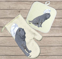 Neapolitan Mastiff Oven Mitt and Pot Holder