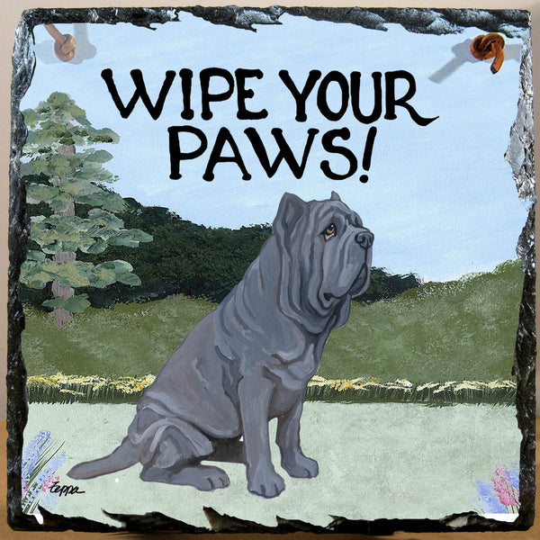 Neapolitan Mastiff Slate Sign