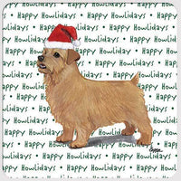 "Norfolk Terrier ""Happy Howlidays"" Coaster"