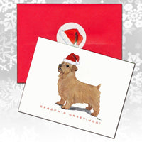 Norfolk Terrier Christmas Note Cards