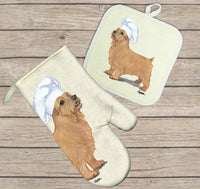 Norfolk Terrier Oven Mitt and Pot Holder