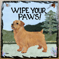 Norfolk Terrier Slate Sign