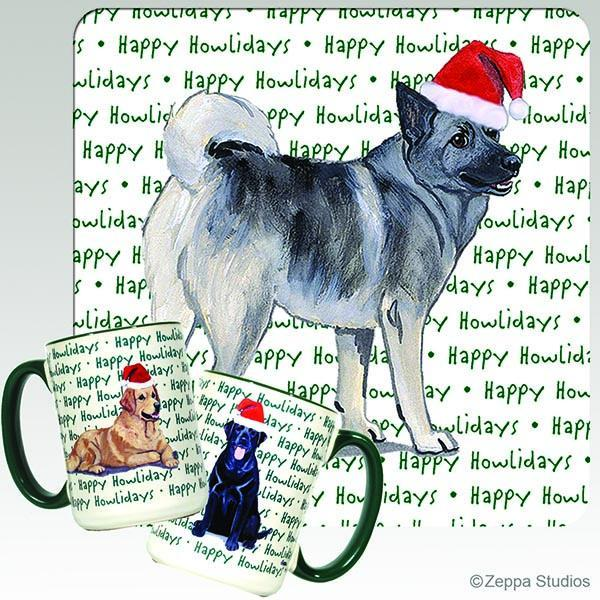 Norwegian Elkhound Holiday Mug