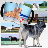 Norwegian Elkhound Scenic Mug