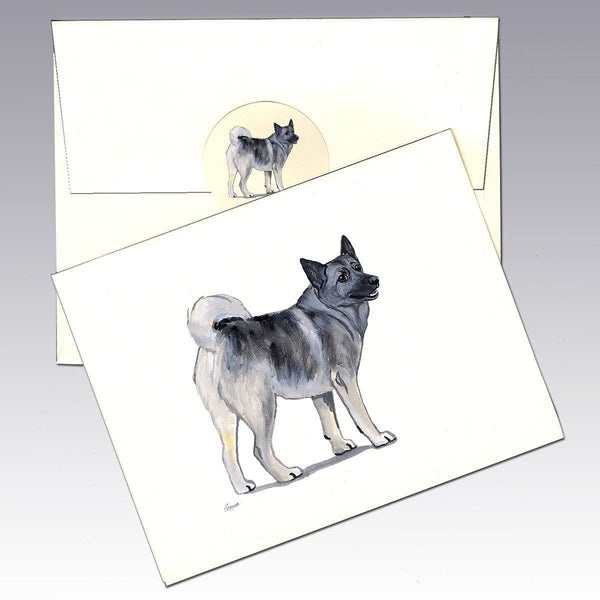 Norwegian Elkhound Note Cards