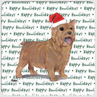 "Norwich Terrier ""Happy Howlidays"" Coaster"