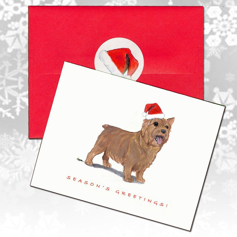Norwich Terrier Christmas Note Cards
