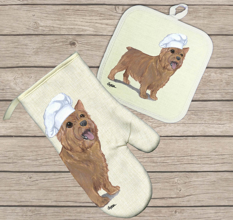 Norwich Terrier Oven Mitt and Pot Holder