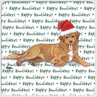 "Nova Scotia Duck Tolling Retriever ""Happy Howlidays"" Coaster"