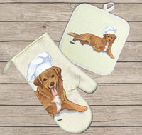 Nova Scotia Duck Tolling Retriever Oven Mitt and Pot Holder