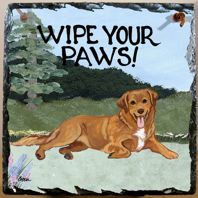 Nova Scotia Duck Tolling Retriever Slate Sign