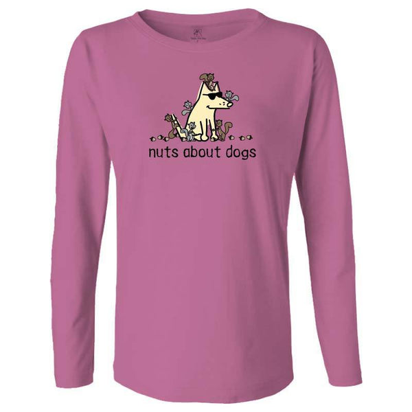 Nuts About Dogs - Ladies Long-Sleeve T-Shirt
