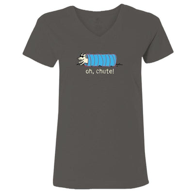 Oh, Chute! Ladies V-Neck Tee