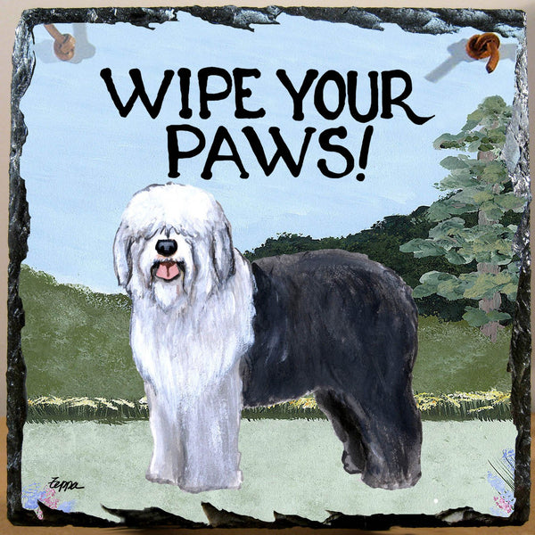 Old English Sheepdog Slate Sign