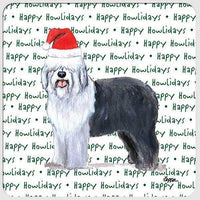 "Old English Sheepdog ""Happy Howlidays"" Coaster"