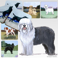 Old English Sheepdog Scenic Coaster