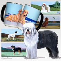 Old English Sheepdog Scenic Mug