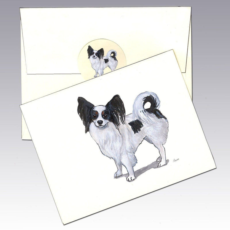 Papillon, Tri Color Note Cards