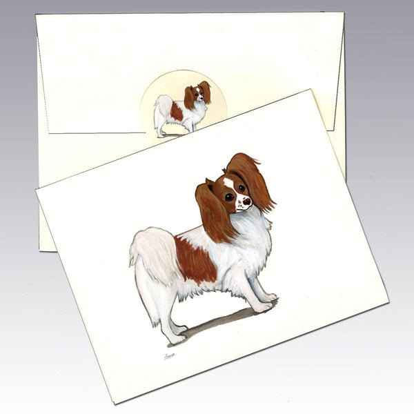 Papillon, Red and White Note Cards