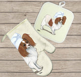 Papillon Oven Mitt and Pot Holder